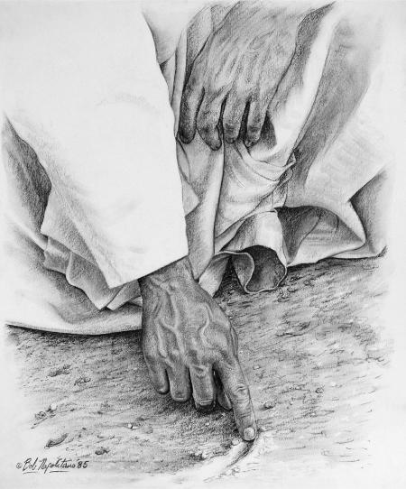 John 8:6-9 *