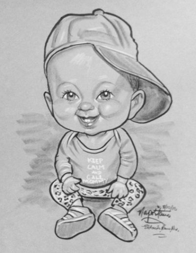 Baby Boy caricature