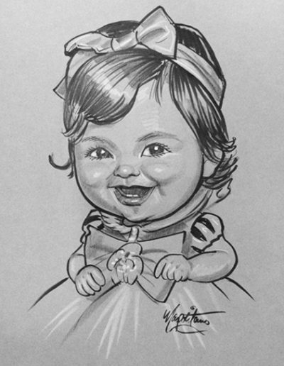 Baby Girl caricature