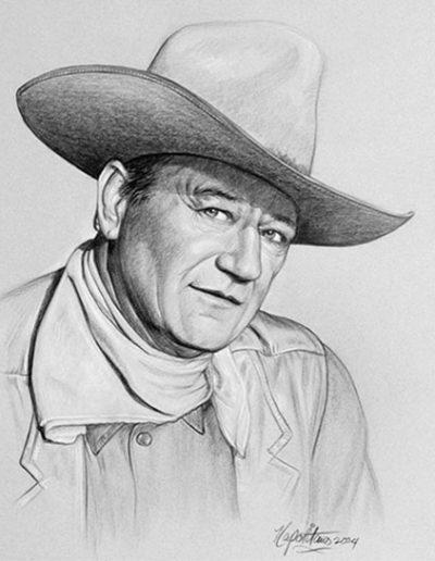 John Wayne portrait 1 *